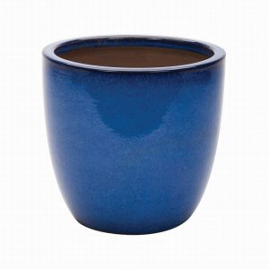 CAMBRIDGE EGG POT BLUE 41cm