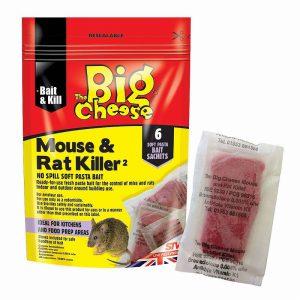 THE BIG CHEESE MOUSE & RAT KILLER PASTA SACHET PK6