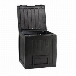DECO COMPOSTER WITH BASE – BROWN