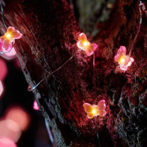 30 BUTTERFLY FIREFLY STRING LIGHTS – SOLAR POWERED