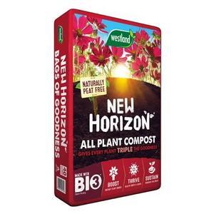 PEAT FREE! NEW HORIZON ALL-PURPOSE PLANT COMPOST 60L