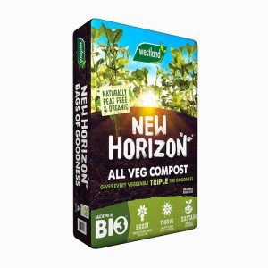 PEAT FREE! NEW HORIZON VEGETABLE GROWING COMPOST 50L