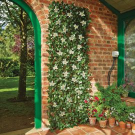 WHITE CLEMATIS ARTIFICIAL TRELLIS LARGE