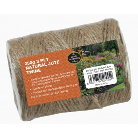 250g 3 PLY NATURAL JUTE TWINE