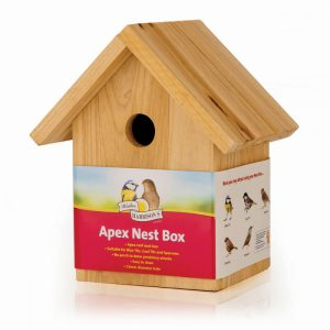 HARRISONS WOODEN NEST BOX APEX 32mm HOLE