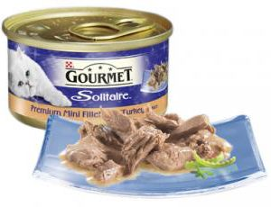 GOURMET SOLITAIRE CAN PREMIUM FILLETS TURKEY IN SAUCE 85g