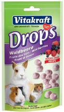 VK SMALL ANIMAL SUGAR FREE WILD BERRY DROPS 75g