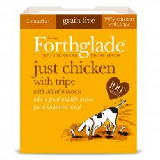 FORTHGLADE DOG ADULT GF JUST 90% CHICKEN WITH TRIPE 395g