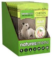NATURES MENU DOG ADULT POUCH CHICKEN WITH VEG & RICE 300g