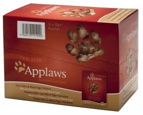 APPLAWS CAT POUCH TUNA & PACIFIC PRAWN 70g