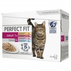 PERFECT FIT CAT POUCHES ADULT 1+ MIXED 12x85g PACK
