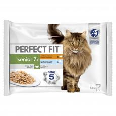 PERFECT FIT CAT POUCHES SENIOR 7+ MIXED  4x85g PACK
