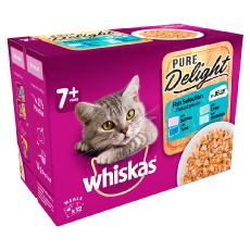 WHISKAS 7+ CAT POUCHES PURE DELIGHT FISH SEL IN JELLY 12x85g