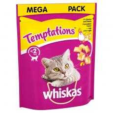 WHISKAS TEMPTATIONS CAT TREATS WITH CHICKEN & CHEESE 180g