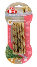 8IN1 DOG DELIGHTS PORK TWIST STICKS 55g
