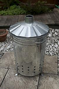 GALVANISED INCINERATOR TAPERED 18″