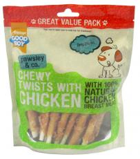 GOOD BOY PAWSLEY & CO CHEWY TWISTS WITH CHICKEN 320g