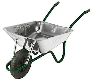 EASILOAD 85L WHEELBARROW PNEUMATIC GALVANISED