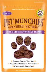 PET MUNCHIES LIVER & CHICKEN DOG TRAINING TREATS 50g