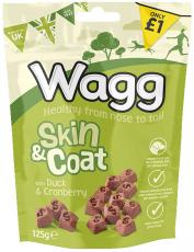 WAGG SKIN & COAT TREATS WITH DUCK & CRANBERRY 125g