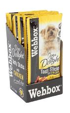 WEBBOX CHEWY DOGS DELIGHT TASTY DOG STICKS CHICKEN 6'S