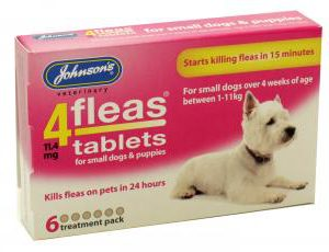 4FLEAS TABLETS – SMALL DOGS & PUPPIES UPTO 11kg 6 TABLETS