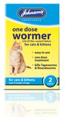 JVP CAT ONE DOSE WORMER 2 TABLETS