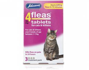 4FLEAS CATS AND KITTENS 3 TREATMENT PACK