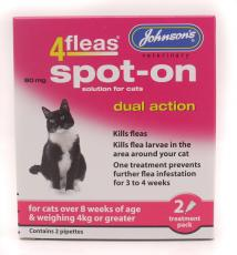 4FLEAS SPOT-ON CAT 2 VIAL PACK