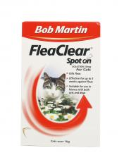 BOB MARTIN CAT FLEA CLEAR SPOT ON 2 TUBE