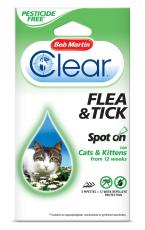 BOB MARTIN CLEAR CAT SPOT ON 12 WEEKS PESTICIDE FREE