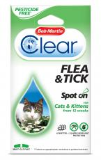 BOB MARTIN CLEAR CAT SPOT ON 24 WEEKS PESTICIDE FREE