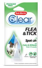 BOB MARTIN CLEAR CAT SPOT ON 4 WEEKS PETICIDE FREE