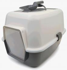 ENCLOSED CAT LOO WITH DOOR AND SCOOP