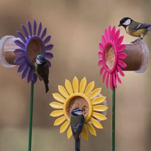 FLOWERBED FLUTTER BUTTER BIRD FEEDER YELLOW