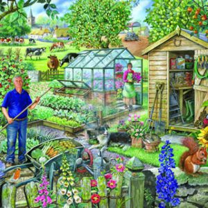 AT THE ALLOTMENT – BIG 500pc JIGSAW PUZZLE