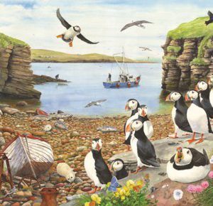 PUFFIN PARADE – BIG 500pc JIGSAW PUZZLE