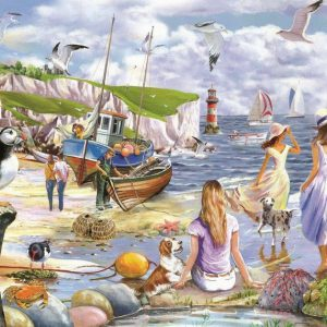 SEA SHORE BREEZES – BIG 500pc JIGSAW PUZZLE