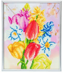 BEAUTIFUL BOUQUET – CRYSTAL ART 'PICTURE FRAME' KIT