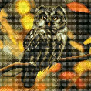 TAWNY OWL, 30x30cm CRYSTAL ART KIT