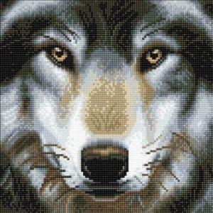 WOLF, 30x30cm CRYSTAL ART KIT