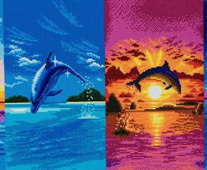 DAY OF THE DOLPHIN, 40x90cm CRYSTAL ART KIT