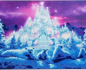 ICE KINGDOM, 40x90cm CRYSTAL ART KIT