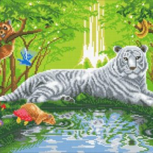 MEETING IN THE FOREST, 40x90cm CRYSTAL ART KIT