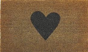 MY MAT PRINTED COIR – HEART – 45x75cm