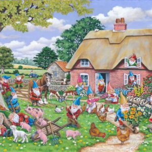 GNOME FARM – BIG 500pc JIGSAW PUZZLE