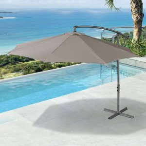 3m ROUND CANTILEVER PARASOL – TAUPE